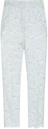 Dolce & Gabbana Lace Straight-Leg Trousers