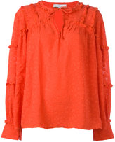 IRO ruffle sleeved blouse - women - Polyester - 38