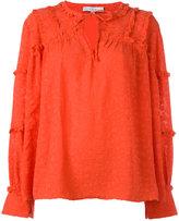 IRO ruffle sleeved blouse
