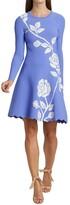 Thumbnail for your product : Lela Rose Jacquard Knit Floral Dress