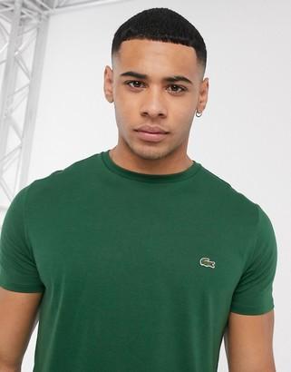 Lacoste logo pima cotton t-shirt in dark green