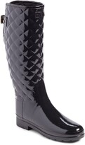 Hunter Refined High Gloss Quilted Waterproof Rain Boot
