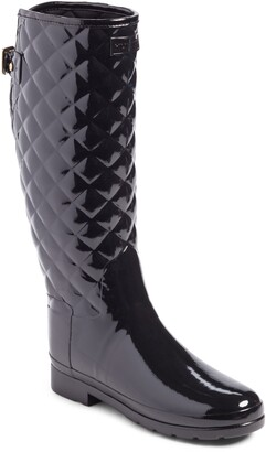 Hunter Original Refined High Gloss Quilted Waterproof Rain Boot