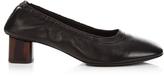 Robert Clergerie Poket block-heel leather ballet pumps