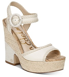 Sam Edelman Women's Lillie Espadrille Wedge Platform Sandals