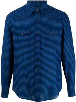 Saint Laurent Gingham Check Casual Shirt