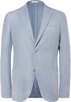 Boglioli Blue K-Jacket Wool and Silk-Blend Blazer