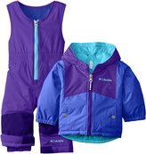 Columbia Baby Girls' Double Flake Reversible Set, Grape/Hyper Purple, 6-12 Months