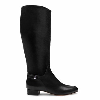 Alexis Isabel Gilt Black Leather Boots