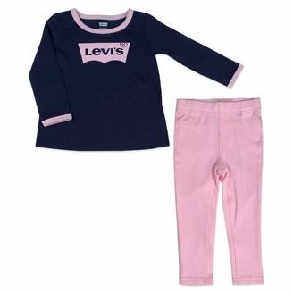 Levi's Baby Girl's Knit Tunic Set Shirt Lt Gray Heather 12M