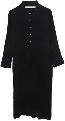 Raquel Allegra Henley Dress in Black