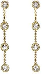 Jennifer Meyer Women's Four-Bezel Chain Drop Earrings
