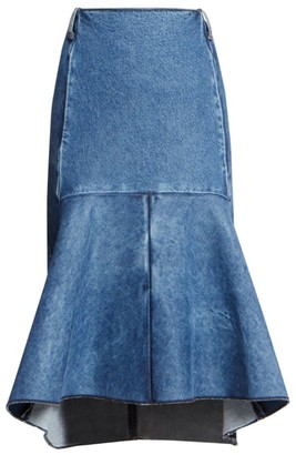 Balenciaga Denim Peplum Skirt