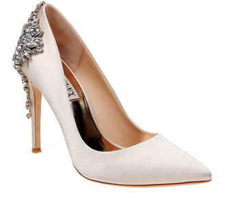 Badgley Mischka Gorgeous Embellished Satin Pumps