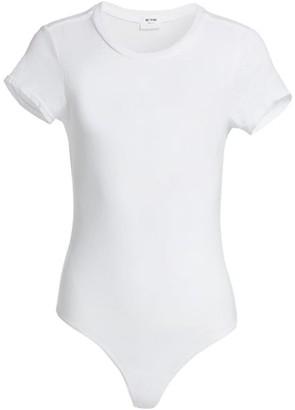 RE/DONE Heritage Cotton 1960s Slim Tee Bodysuit