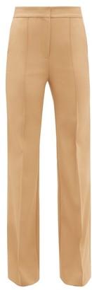Diane von Furstenberg Kimberley Flared-cuff Technical-twill Trousers - Womens - Camel