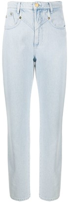 Alberta Ferretti High-Waisted Straight Leg Jeans