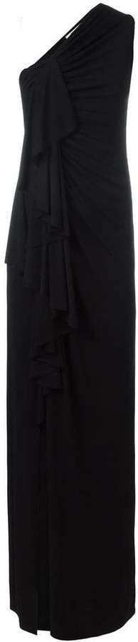 Givenchy gathered one shoulder gown