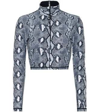 Adam Selman Snake-print sports top