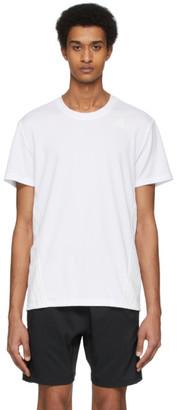 adidas White Aero 3-Stripes T-Shirt