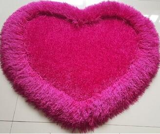 Winston Porter Mohn Soft Shaggy Hand-Tufted Rose Pink Area Rug Winston Porter
