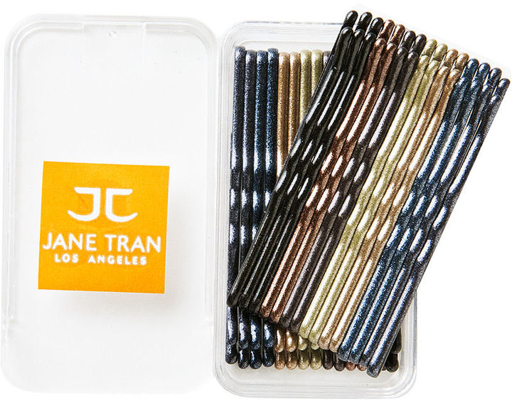 Jane Tran Hair Accessories Solid Color Bobby Pin Box, A-metallic 1 ea
