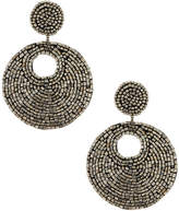 Kenneth Jay Lane Hematite Seed Bead Drop Earrings
