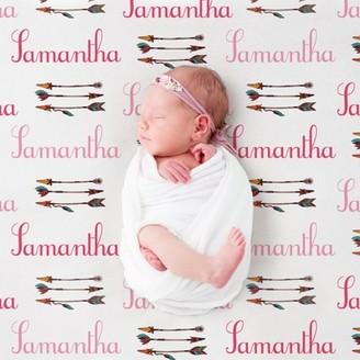 MonogramOnline Custom Bows and Arrows Pink Baby Blanket