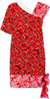 MSGM multi-print asymmetric dress - women - Silk/Polyester - 40