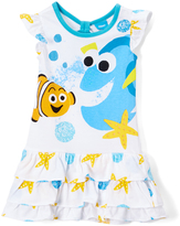 Freeze White Dory & Nemo Cutout Drop-Waist Dress - Toddler