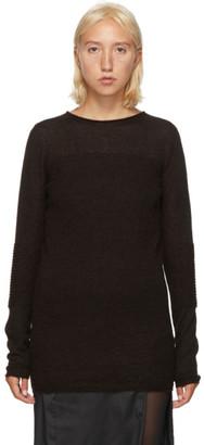 Rick Owens Brown Alpaca Sweater