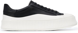 Jil Sander Lace-Up Leather Sneakers