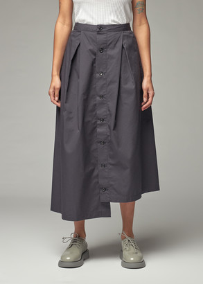 Engineered Garments Women's Tuck Skirt in Dark Navy High Count Twill Size 2