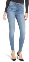 Good American Women's Good Legs High Waist Cascade Hem Skinny Jeans