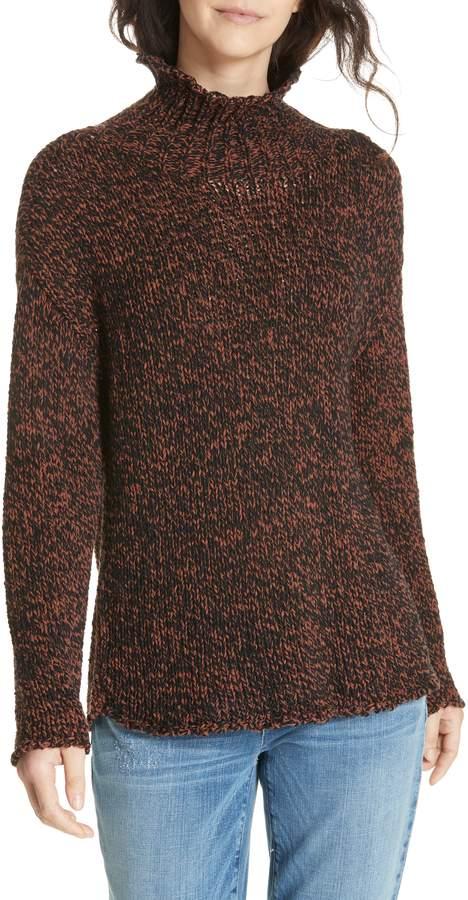 Eileen Fisher Marled Organic Cotton Blend Sweater