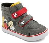 Disney Mickey Mouse Toddler Boys' High Top Sneakers - Grey