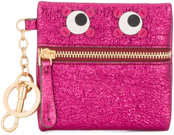 Anya Hindmarch Metallic pink leather circulus eyes coin purse