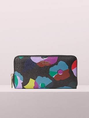 Kate Spade Spencer Floral Collage Zip-Around Continental Wallet