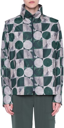 Akris Punto Circlefield Print Zip Front Jacket
