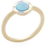 Meira T 14K Yellow Gold, Opal & 0.04 Total Ct. Diamond Ring