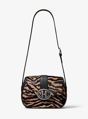 Michael Kors Monogramme Tiger Calf Hair Shoulder Bag