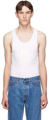 Calvin Klein Underwear Three-Pack White Ribbed Tank Top