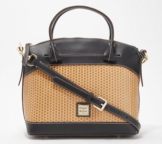 Dooney & Bourke Woven Embossed Leather Satchel - Beacon