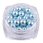Hot Nail Art! AMA(TM) 12 Colors Pearl 10g/Box Nail Glitter Nail Beads Nail Tip Bottle Gel Polish Decoration Makeup Art DIY Nail Decorat (Sky Blue)