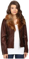 Scully Elise Faux Leather and Fur Jacket