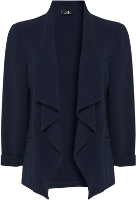 Wallis Navy Relaxed Fit Waterfall Blazer
