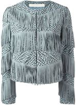 Drome fringed leopard print jacket - women - Leather/Acetate/Cupro - M