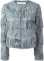 Drome fringed leopard print jacket