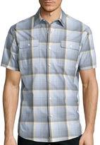 Claiborne Short Sleeve Plaid Woven Shirt