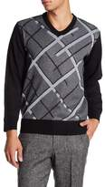 Burnside Broken Argyle V-Neck Sweater